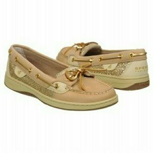 Women's Sperry Angelfish tan and gold